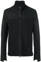 Lost & Found Ria Dunn - panelled zip coat - men - Cotton/Polyamide/Acetate/Wool - S