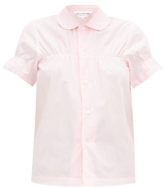 Comme des Garcons Peter Pan-collar Cotton Shirt - Womens - Light Pink