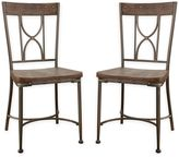 Hillsdale Paddock Dining Chairs in Brushed Steel (Set of 2)
