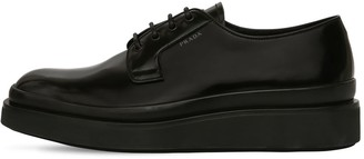 Prada Platform Leather Lace-up Shoes
