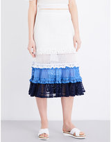Jonathan Simkhai Ruffled crochet knitted skirt