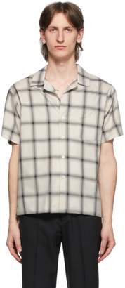Second/Layer White and Grey Ombre Bowling Short Sleeve Shirt