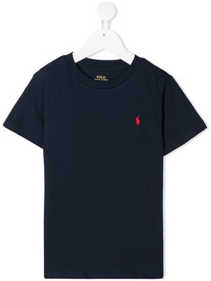 Ralph Lauren Kids Logo Embroidered Cotton T-Shirt