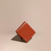 Burberry London Leather Id Wallet, Orange