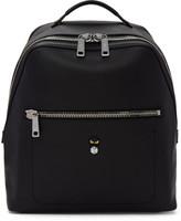 Fendi Black Leather 'Micro Bugs' Backpack