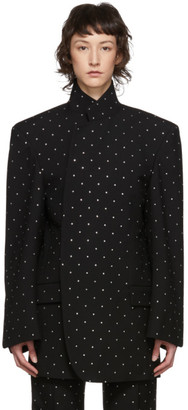 Balenciaga Black Wool Strass Shifter Blazer