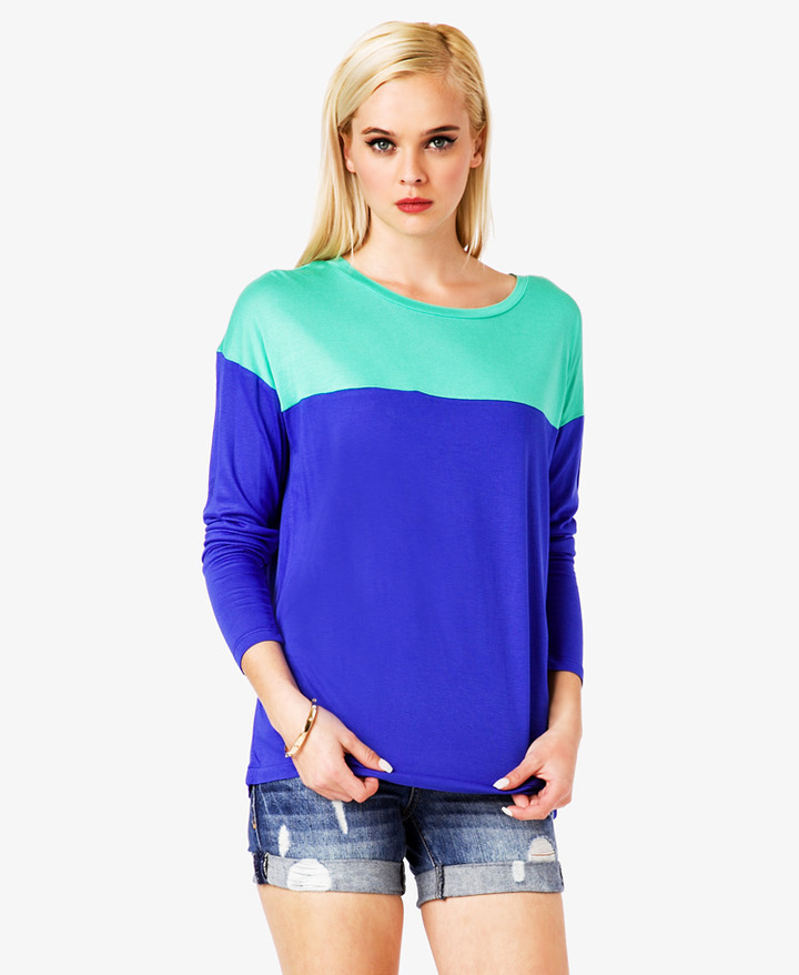 Forever 21 Boxy Colorblocked Top