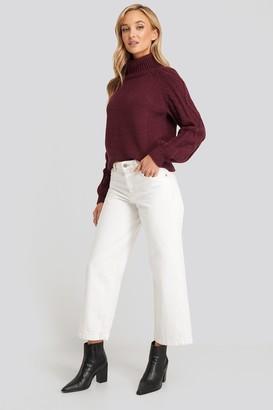 MANGO Culotte Jeans White