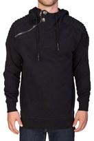 Pierre Balmain Men's Cotton Hooded Zip Sweatshirt Hoodie Black.