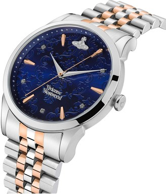 Vivienne Westwood The Wallace BiColour Stainless Steel Bracelet Navy Dial Watch