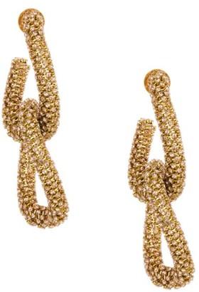 Oscar de la Renta Crystal Pave Link Earrings