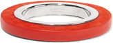 Jil Sander Rhodium-plated, leather and suede bracelet