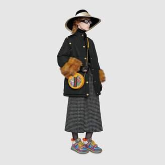Gucci Online Exclusive Ophidia GG Flora mini round shoulder bag