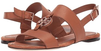 Tory Burch Metal Miller Two Band Sandal (Goldfinch/Gold) Women's Shoes