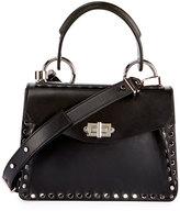 Proenza Schouler Small Hava Studded Top-Handle Bag, Black