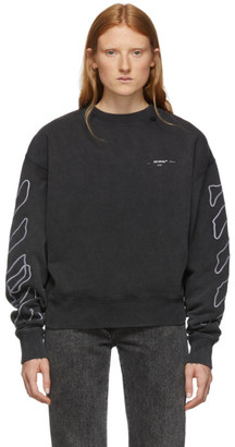 Off-White Black and White Abstract Arrows Sweatshirt