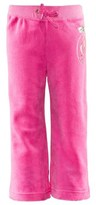 Juicy Couture Pink Velour Jewelled Track Pants