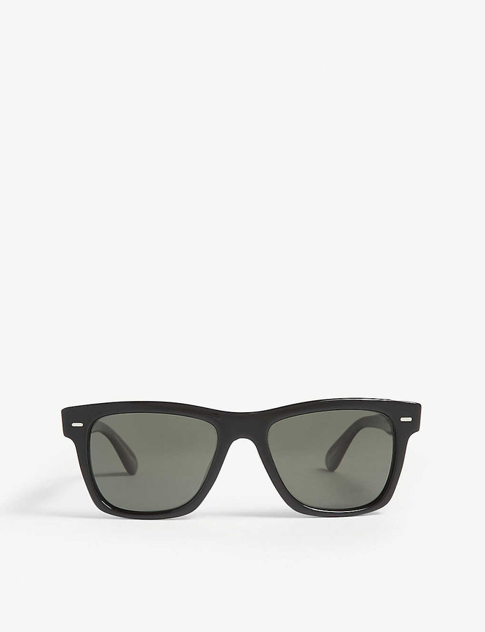 Thumbnail for your product : Oliver Peoples Oliver rectangle-frame polarised sunglasses
