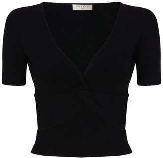 Sandro Paris Cropped Knot Top