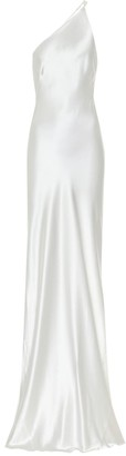 Galvan Portofino silk-satin bridal gown