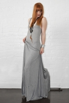 Karina Grimaldi Lace Modal Dress in Grey