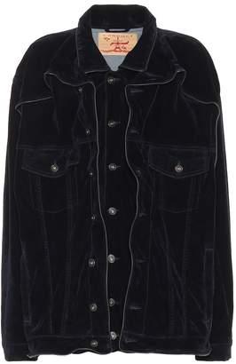 Y/Project Oversized velvet jacket