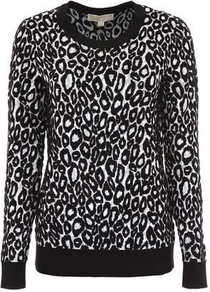 MICHAEL Michael Kors Leopard Print Pullover