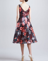 Lela Rose Sleeveless Dress with Full Skirt
