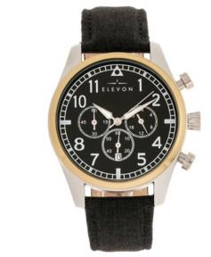 Elevon Men's Curtiss Chronograph Genuine Leather Strap Watch 46mm
