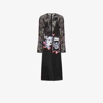 Prada Frankenstein print midi dress