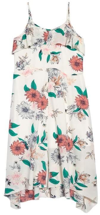 Truly Me Ruffle Floral Print Maxi Dress (Big Girls)