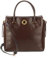 Sergio Rossi Halston Leather & Suede Handbag