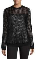 Tory Burch Lansing Sequin Wool Sweater