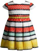 Youngland Girls 4-6x Crochet Lace Striped Dress