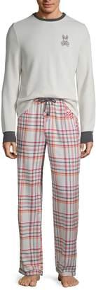 Psycho Bunny Lounge 2-Piece Flannel Pajama Set