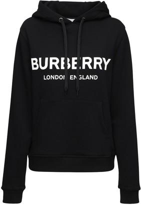 Burberry Logo Print Jersey Sweatshirt Hoodie