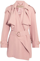 Burberry Draped Slub Silk Jacket - Blush