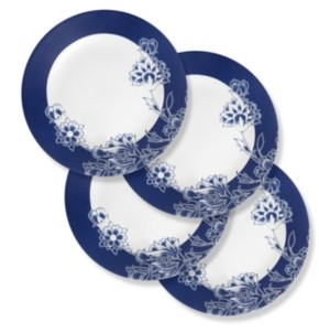 Corelle Boutique 11 Inch Dinner Plate Indigo Blooms 4 Pack