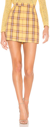 BB Dakota Best I Ever Plaid Skirt