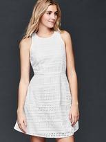Gap Eyelet fit & flare dress