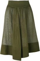 Balmain semi-sheer draped shorts