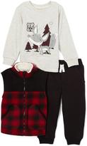 Kids Headquarters Red & Black Buffalo Check Vest Set - Infant