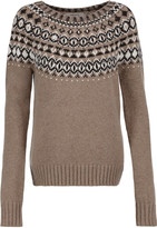 Bailey 44 Embellished intarsia-knit sweater