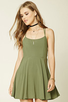 Forever 21 FOREVER 21+ Strappy Fit And Flare Dress