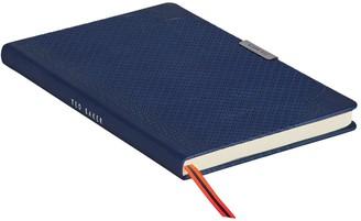 Ted Baker A5 Brogue Geo Notebook -Navy