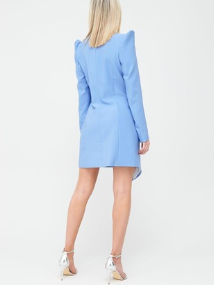 River Island Asymmetric Blazer Dress - Blue