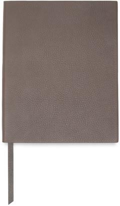 Smythson Pebbled-leather Notebook