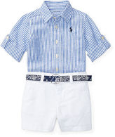 Ralph Lauren Boy Shirt, Belt & Short Set