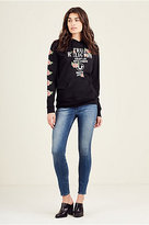 True Religion Roses Pullover Womens Hoodie