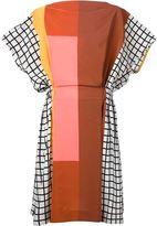 Issey Miyake mixed print dress